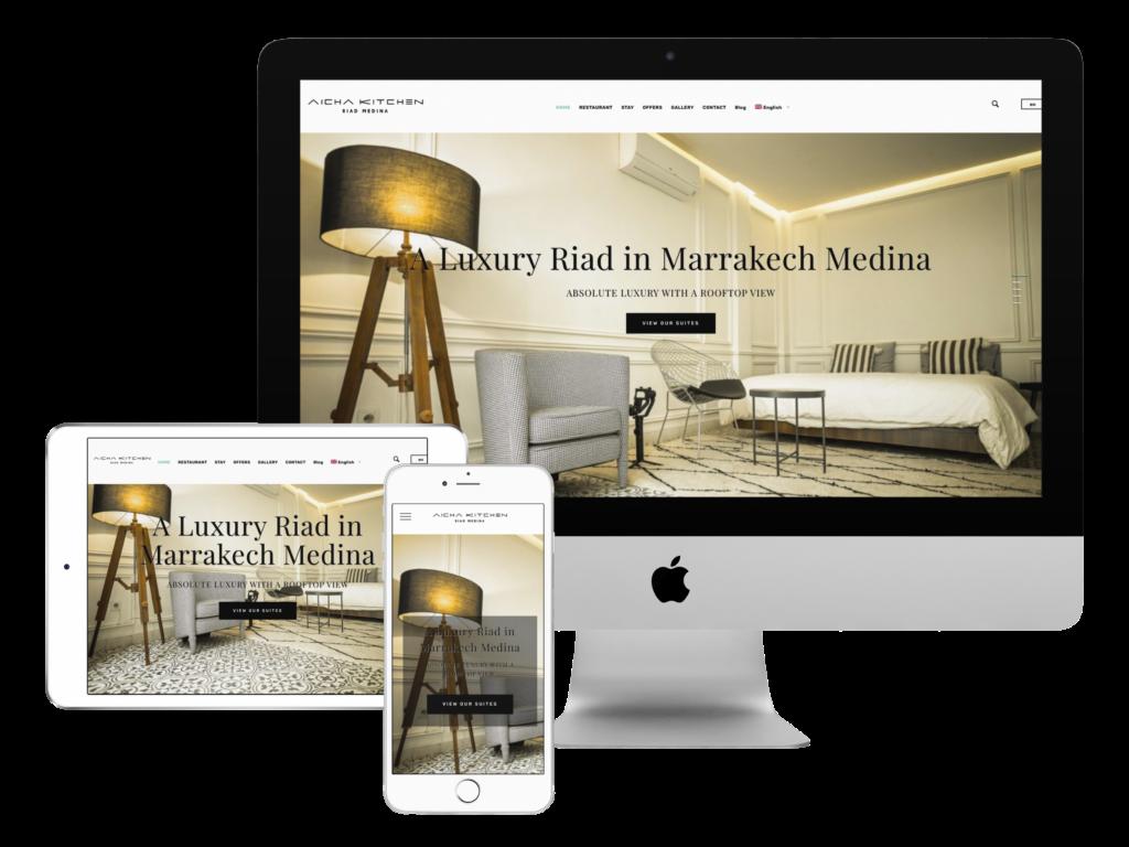 création site web marrakech Riad aicha kitchen
