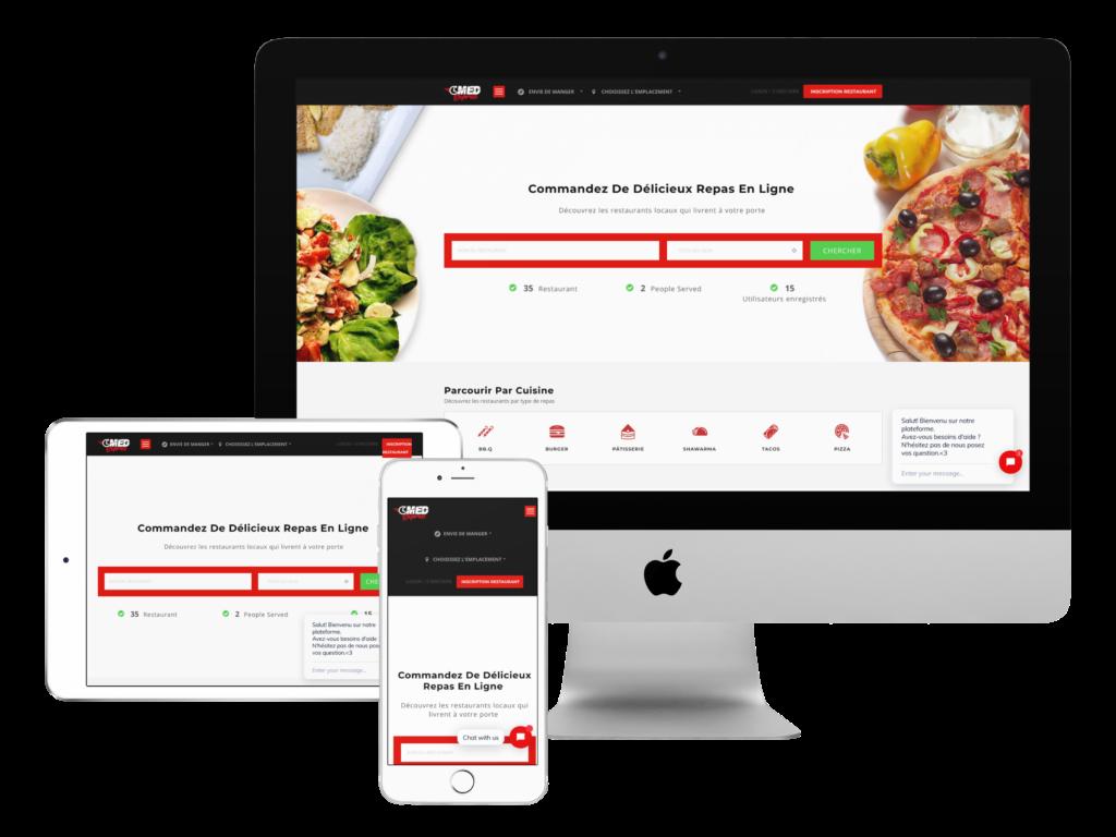 création site web maroc livraison a domicile